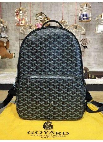 Goyard Backpack Exterior Zip Pocket Black