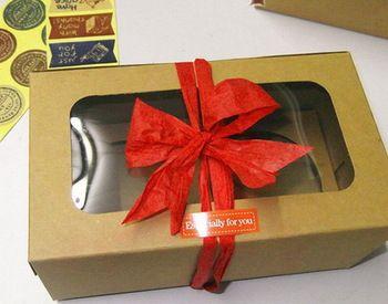 Новый 16 x 9 x 7.5 см ну вечеринку кекс упаковка держать коробки с вставить, Крафт-бумаги пользу бисквит чехол 50 шт./лот