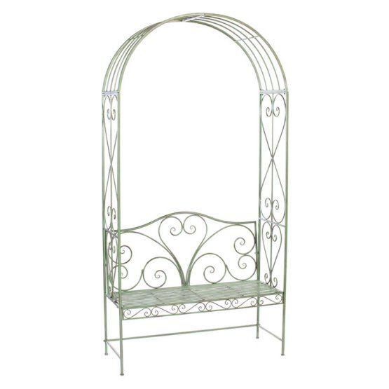 Melrose Savoy Metal Garden Bench with Arch
