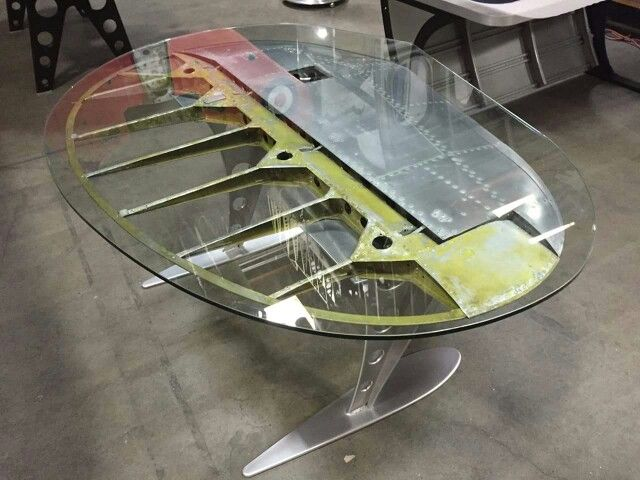 Twin Tail desk from C45 by MotoArtMan Cave Decor