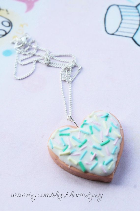 Kawaii Polymer Clay Sugar Cookie Charm Necklace