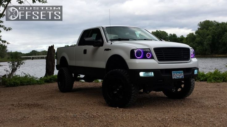 2005 lifted ford f150 6 bds suspension lift fuel octane wheels 35 toyo open country mt tires bushwacker fender flares pinterest wheels - White 2005 Ford F150 Lifted
