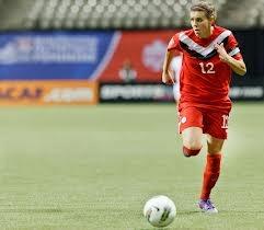 Christine Sinclair  Canadian soccer women's team captain