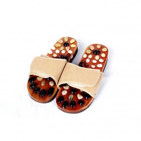 Reflex Massage Sandal Foot Slipper Natural Stone Massage Health