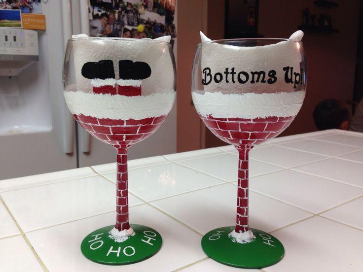 air jordan wholesale china paypal Painted wine glasses
