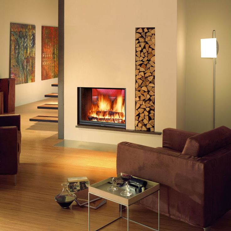 double sided inset log burner  Google Search  haard  Inset stoves Double sided stove Wood