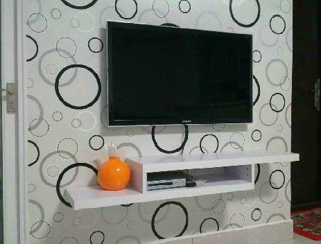 Tv set top box rack wall mount wall tv cabinet brief diaphragn shelf $54.36