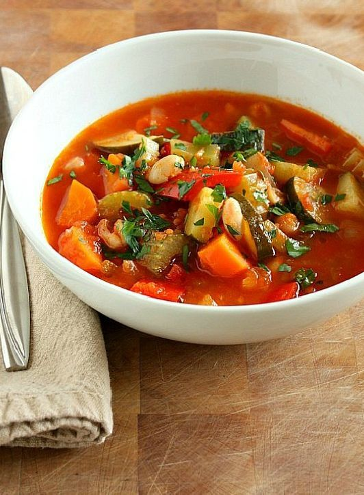 Low FODMAP Recipe and Gluten Free Recipe - Italian vegetable soup http://www.ibssano.com/low_fodmap_recipe_italian_vegetable_soup.html