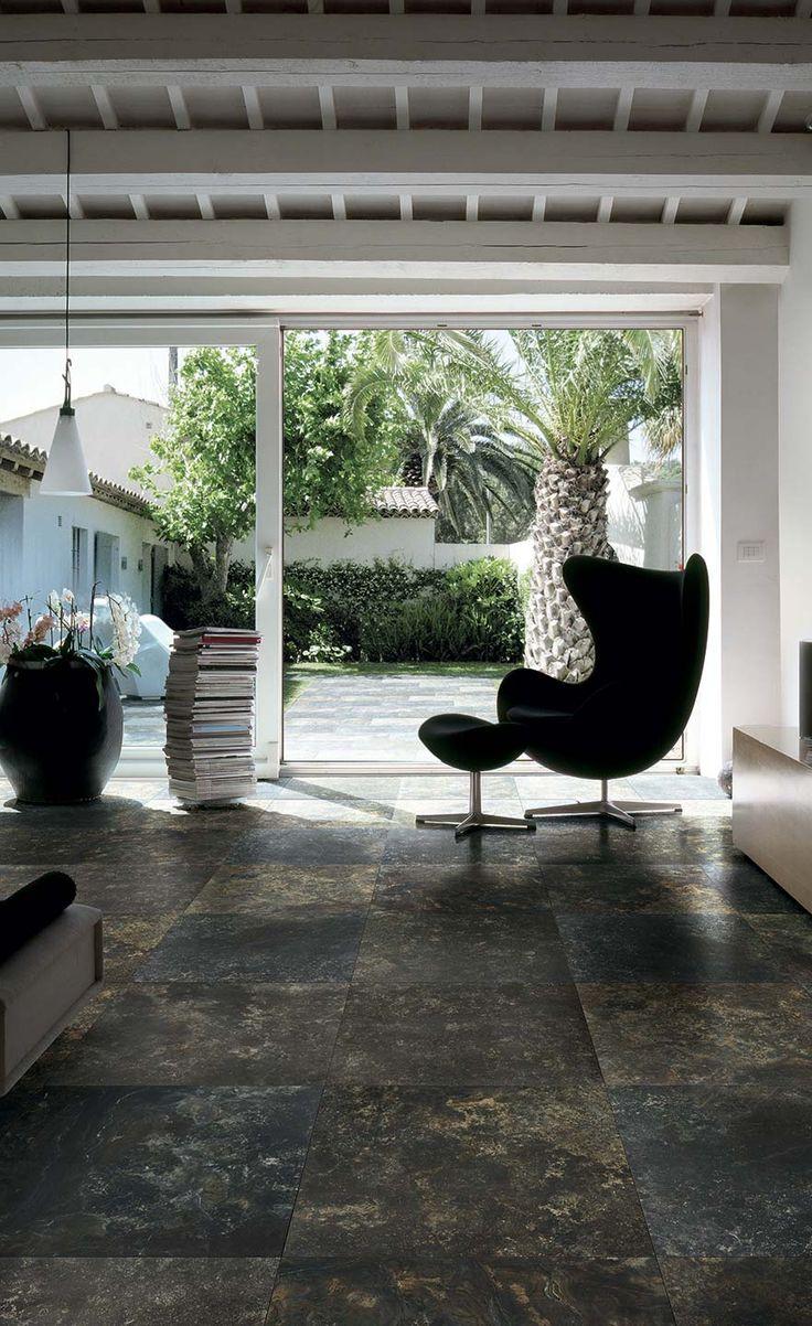 VELVET・Beautiful marble tiles in porcelain stoneware. #dark #floor #ideas #home #elegant #romantic #moody