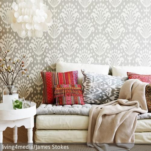 61 best Wohnen im Ethno-Stil images on Pinterest Ethnic style - ikat muster ethno design