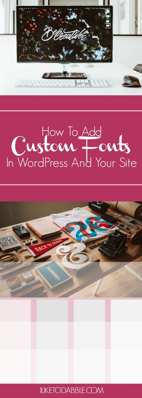 How To Add Custom Fonts In Your WordPress Site. Blogging. Blog tips. Blog design. Blog fonts. Wordpress how to's. boost your blog. blog tools. blog tricks.
