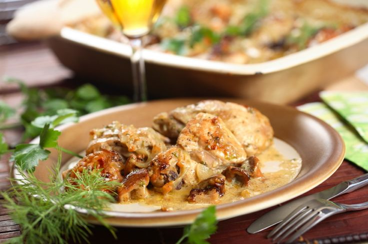 Fancy Dinner Recipe: Creamy Three Mushroom Chicken Casserole