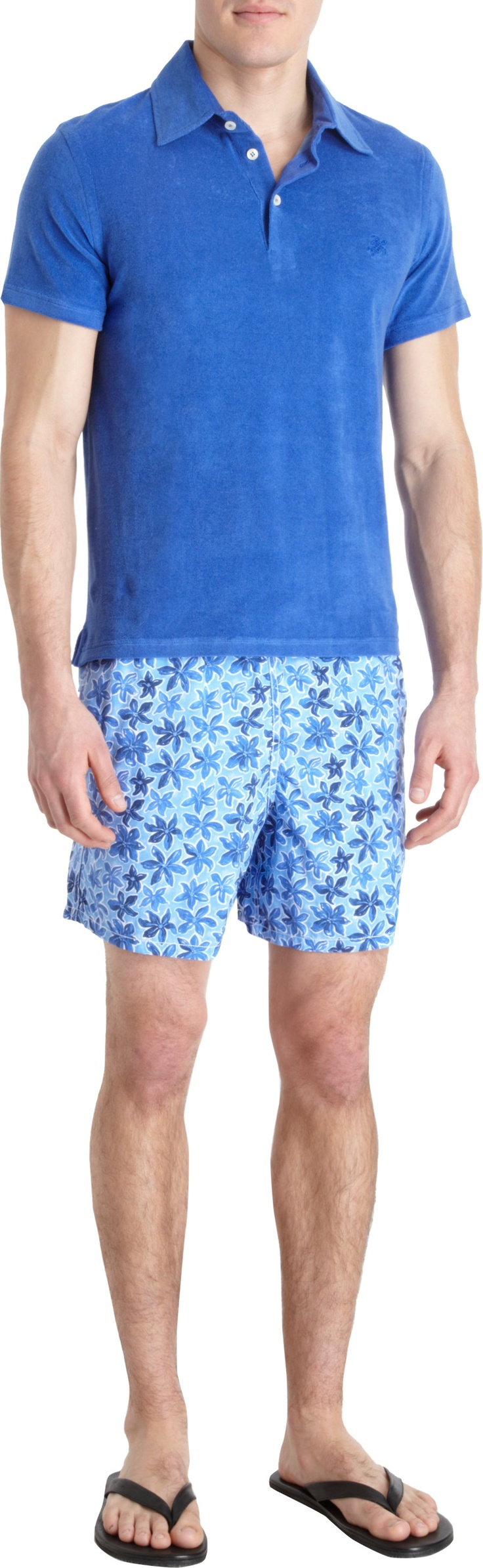 Beach Boys: VILEBREQUIN Painted Flower Swim Trunks