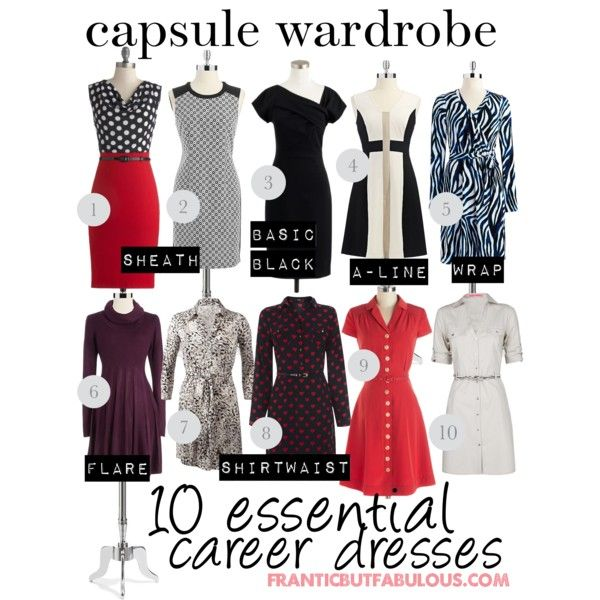 capsule wardrobe: 10 essential career dresses