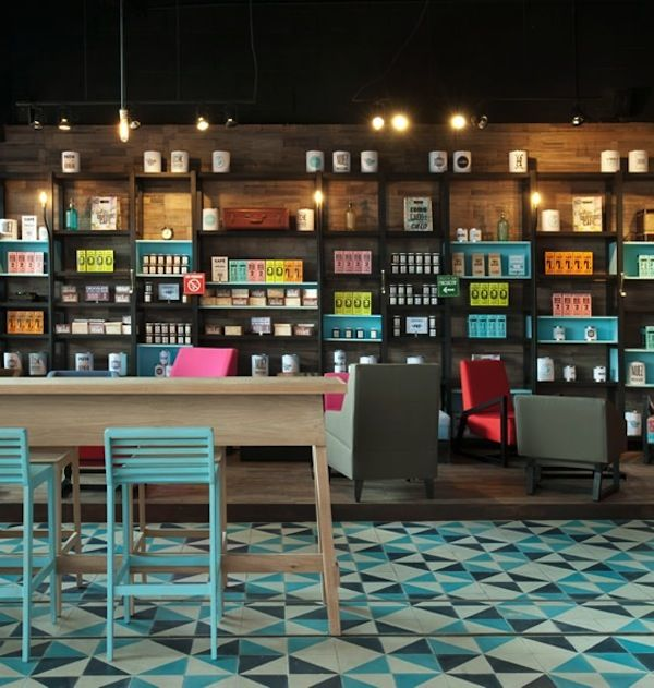 Restaurant | Design | Café | Decor | Bakery | Food Handmade tiles can be colour coordinated and customized re. shape, texture, pattern, etc. by ceramic design studios