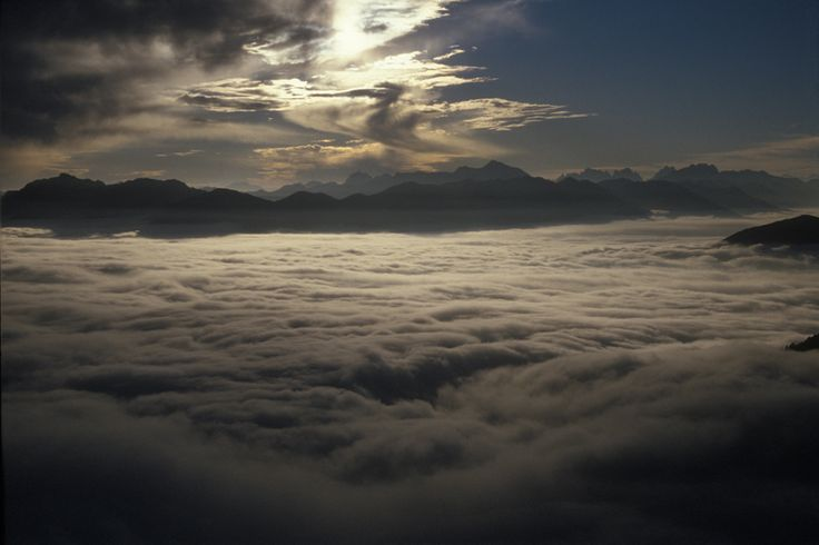 We are in mountain but we have also the sea...a sea of clouds #wonderful