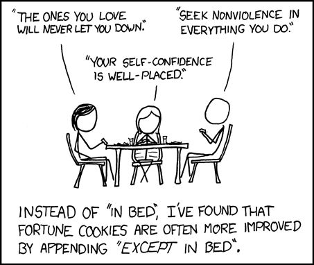 "This was the first xkcd comic I was ever shown. On ""in bed""."