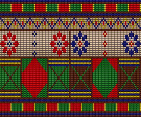 Eigen ontwerp Mochila tas voor bodem met 192 steken.