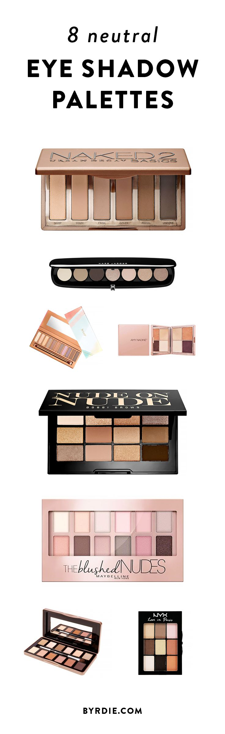 How to de clutter your beauty cabinet kendi everyday - The Prettiest Neutral Eye Shadow Palettes