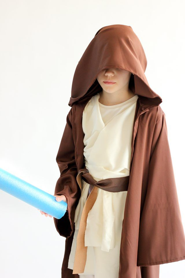 Learn how to make a floor length, hooded Star Wars robe, using a jacket from your closet as a pattern!
