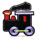 Aufbügler LokomotiveSchwarz - süße Lokomotive zum Aufbügeln. Verzieren Sie mit diesem Aufbügler gekaufte oder selbst genähte Kleidung und mehr. Oder nutzen Sie ihn als Flicken für ein Loch in der Kleidung.Der Aufbügler ist aus Filz mit gestickten Details. Anleitung: legen Sie den Aufbügler auf´s Bügelbrett, den Stoff oben auf. Stellen Sie das Bügeleisen auf 150 Grad und b&u...
