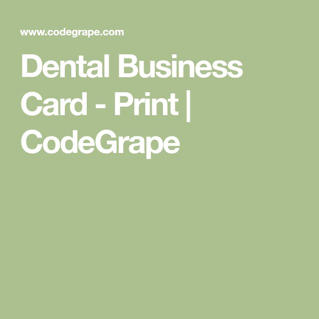 Dental Business Card - Print | CodeGrape