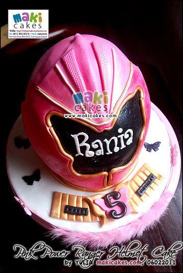 Pink Power Rangers Helmet Cake_ - Maki Cakes | Yulia Riani | Flickr