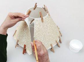 Abat-jour conique à bord roulé, Tuto pour faire - Loisirs créatifs