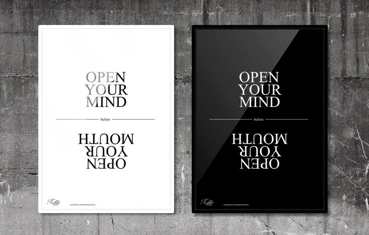Open your mind before open your mouth. #RabbitDESIGN #poster