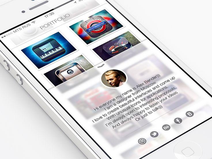 Mobile Portfolio iOS 7 Style