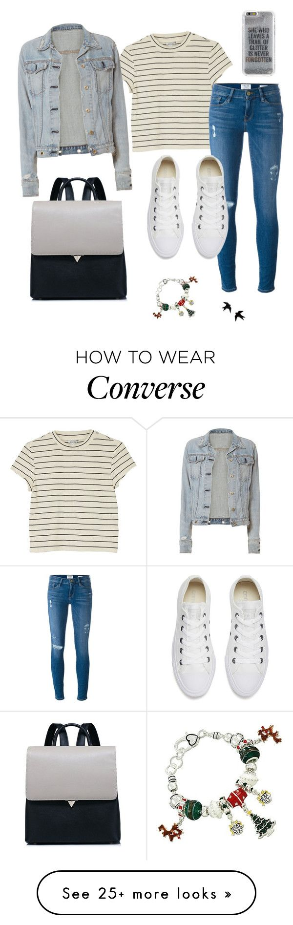 """Xmas at the grandma's house"" by maddigrace-ccc on Polyvore featuring Monki, Frame, Converse, rag & bone and Agent 18"