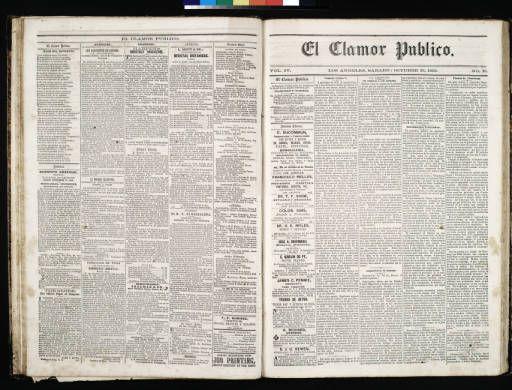 El Clamor Publico, vol. IV, no. 16, Octubre 16 de 1858 :: El Clamor Publico Collection, 1855-1859