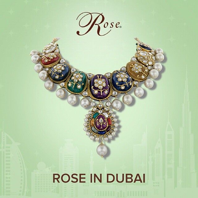 Bejeweling masterpieces that highlight artistic finesse and beauty, set amidst the crème de la crème of #Dubai. Cocktails and a fine evening of viewing our opulent creations on display in Dubai. #RoseInDubai #luxury #jewellery #beauty #elegance #royalty #necklaces #Pearls #Diamonds #Gold #precious #gemstones #jewels #bridaljewellery #trousseau #treasures