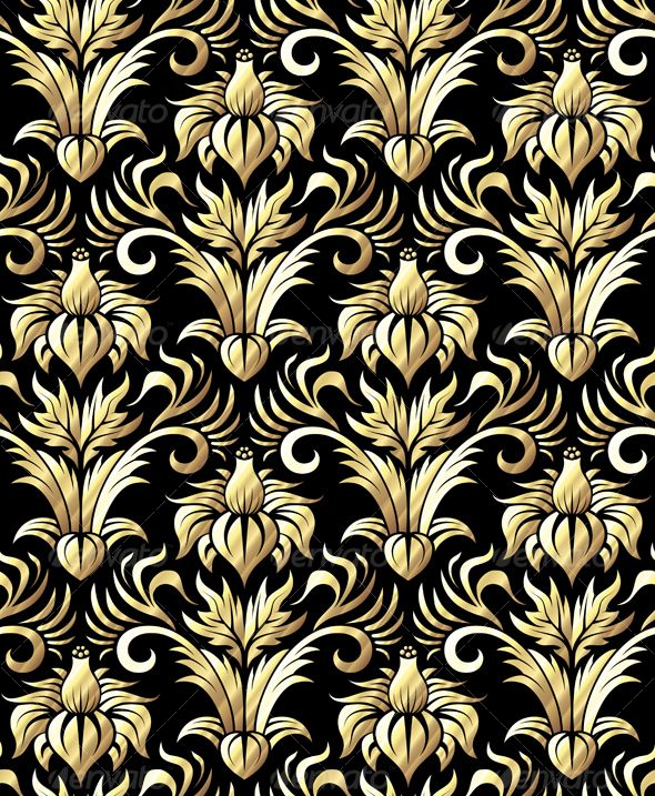 Wallpaper design baroque art gold black pinterest for Baroque style wallpaper