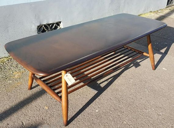 1960s Ercol Coffee Table with Magazine Shelf In Elm by EraBrighton. Top 25  best Ercol coffee table ideas on Pinterest   Ercol table