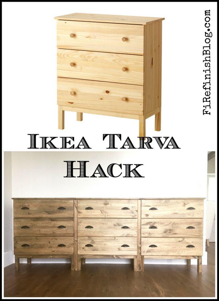 Ikea Tarva Hack By Firefinish A Window Wall Pinterest