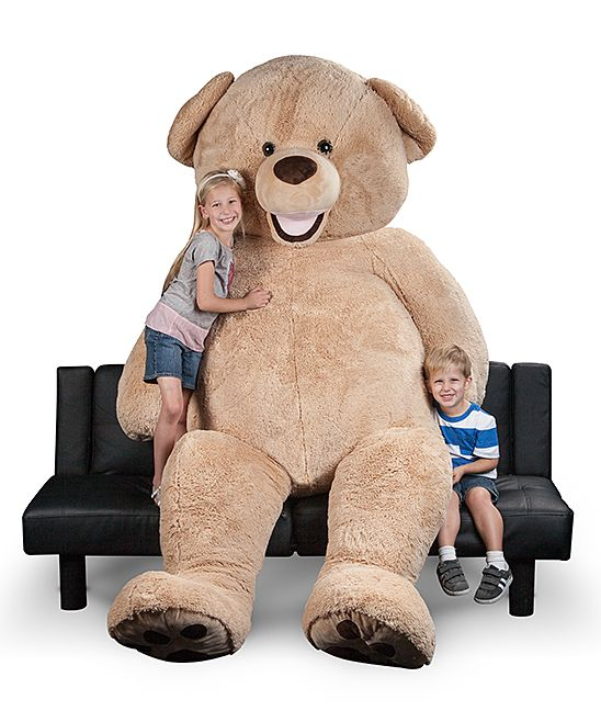 You and your little ones can enjoy the soft comfort of this giant plush bear that helps provide comfy cuddles and naps.94'' HTextileRecommended for ages 4 years and upImported