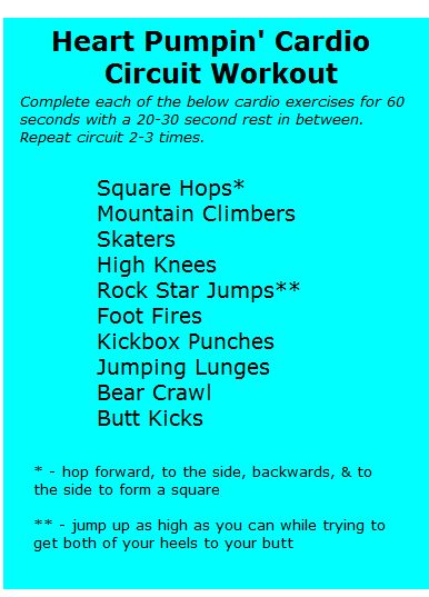 Trainer Tuesday: Heart Pumpin' Cardio Circuit Workout