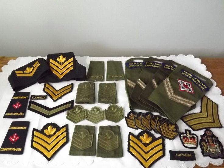 Large Vintage lot of Canadian Military Patches, for Militaria Collectors, Designers, or Army Shadow Box Project by OutrageousVintagious on Etsy