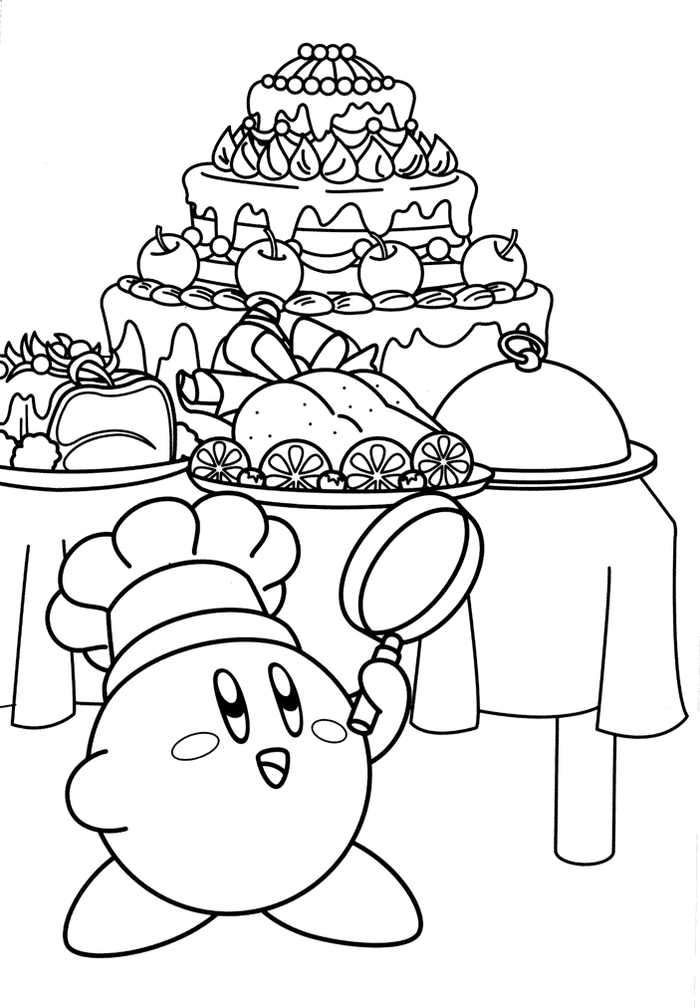 Cook Kirby Coloring Page