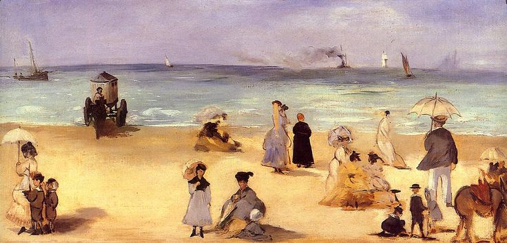 Edouard Manet: On the Beach at Boulogne (1869) |
