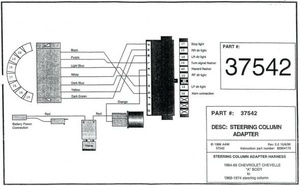 1970 Gm Steering Column Wiring Diagram