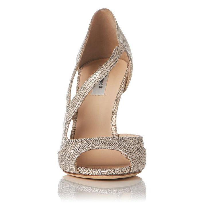 Valentina Gold Metallic Leather Court Shoe | Sandals | Shoes | Collections | L.K.Bennett, London
