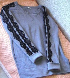 DIY Lace Sweater/sweatshirt