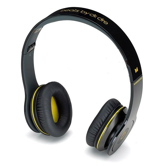 Monster beats solo black yellow over the ear, $125, http://www.monsterbeats-v.com/Monster-beats-solo-black-yellow-over-the-ear-g-1801.html