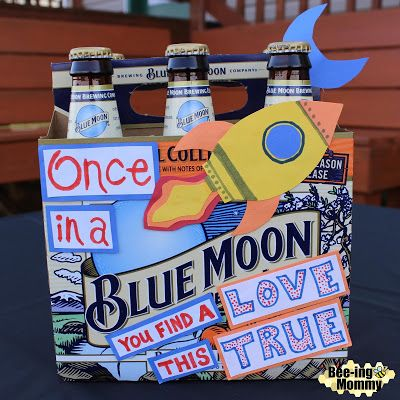 Decorative Beer Box Gifts: Blue Moon