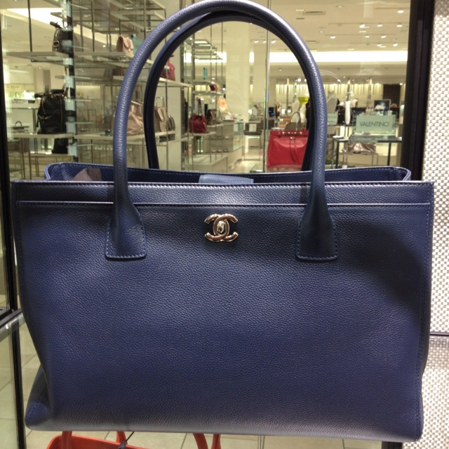 Chanel Royal Blue Executive Tote Neiman Marcus Natick