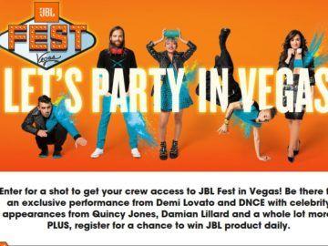 JBL Fest Instant Win & Sweepstakes