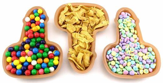 Bachelorette Party penis Favors  | Mini Pecker Party Trays - 3 Trays for Bachelorette Party Snacks