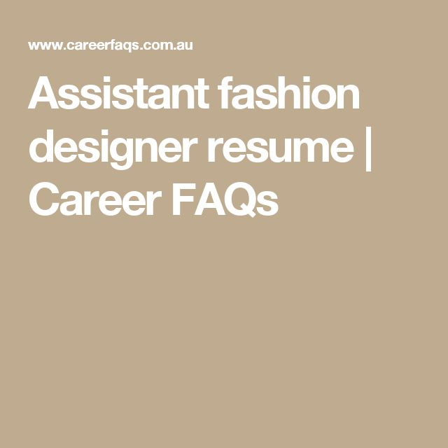 The 25+ best Fashion designer resume ideas on Pinterest Creative - designer resume objective